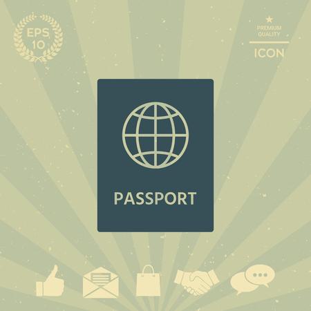 business: Passport icon.