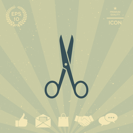 business: Scissors icon Illustration