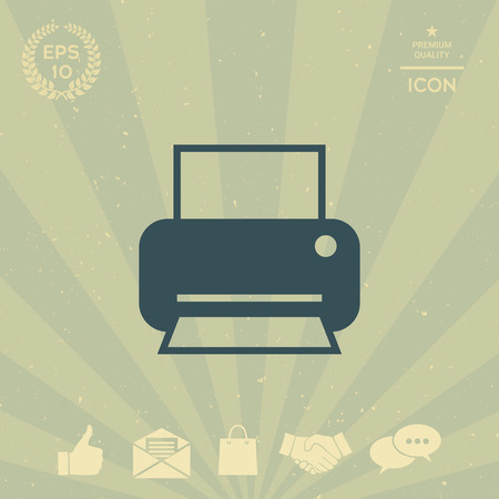 business: Print icon for web
