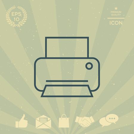 business: Print line icon