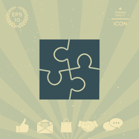 business: Puzzle icon