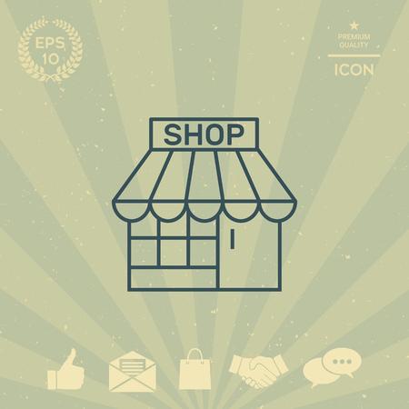 business: Shop icon Illustration