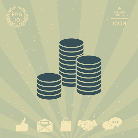 business: Stack of coins icon