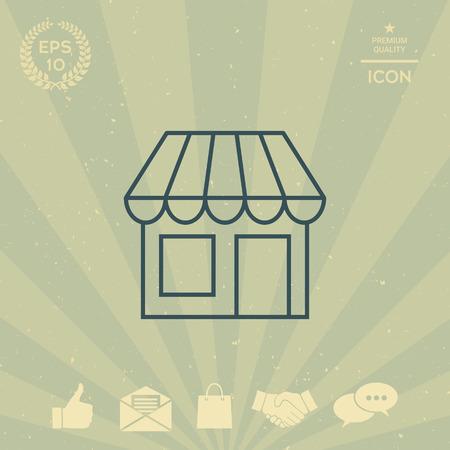 business: Store symbol icon