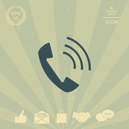 business: Telephone handset, telephone receiver icon