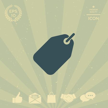 business: Tag icon Illustration