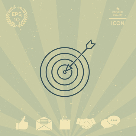 business: Target, goal line icon