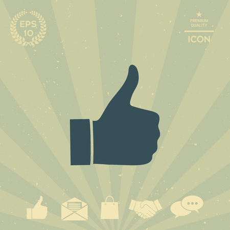 business: Thumb up gesture - icon