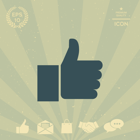 business: Thumb up gesture