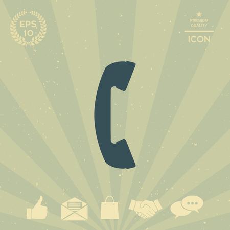 business: Telephone handset, telephone receiver symbol Illustration