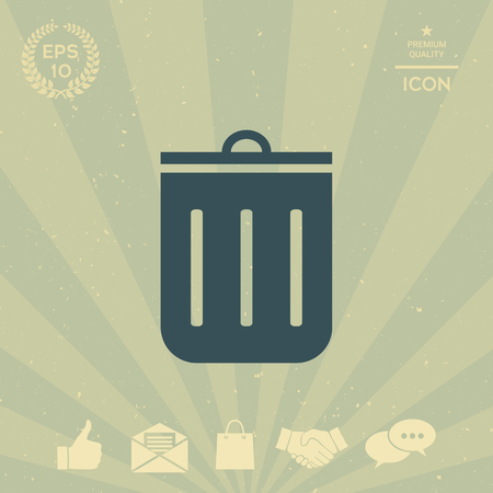 business: Trash can icon