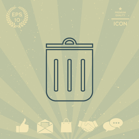 business: Trash can, icon