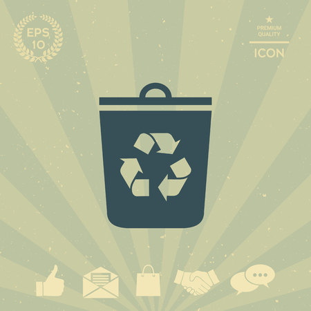 business: Trash can, recycle bin icon