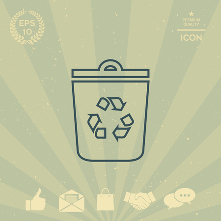 business: Trash can, recycle bin symbol icon
