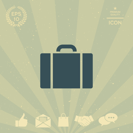 business: Travel bag icon
