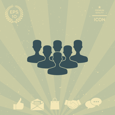 business: Team of Professionals, icon