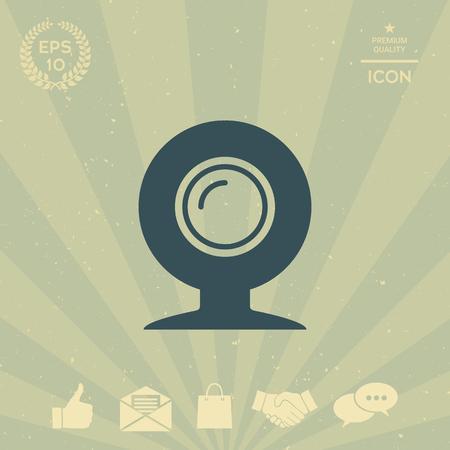 technology background: Webcam icon Illustration