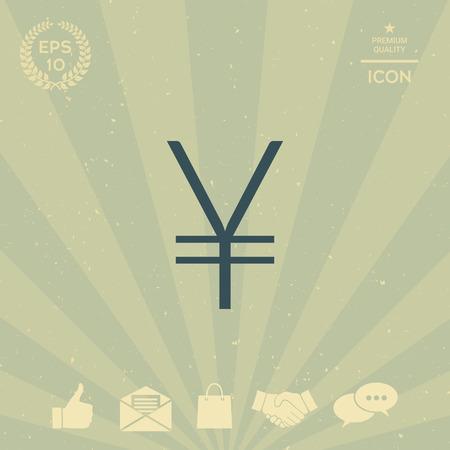 business: Yen symbol icon Illustration