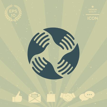 business: Teamwork Hands Logo. Human connection