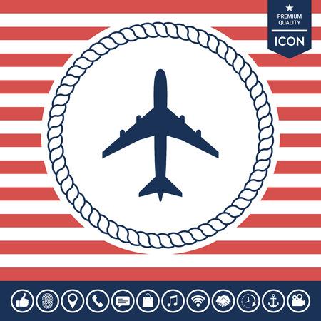 business: Airplane icon Illustration