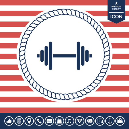 fitness equipment: Barbell icon