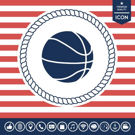 fitness equipment: Basketball ball icon