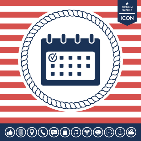 paper note: Calendar icon with check mark Illustration