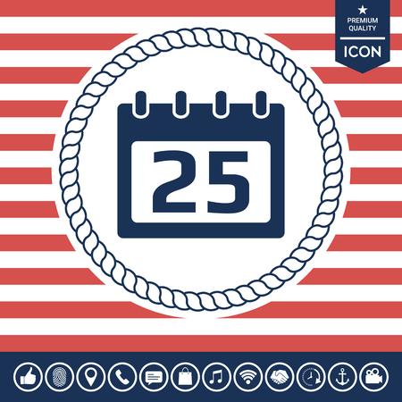 paper note: Calendar icon Illustration