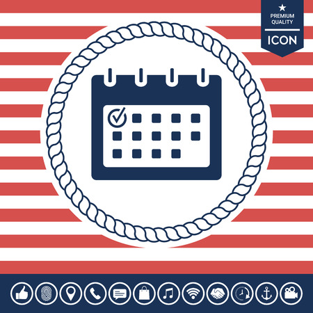 paper note: Calendar with Check mark-  icon