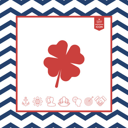 floral: Clover with four leaves Illustration