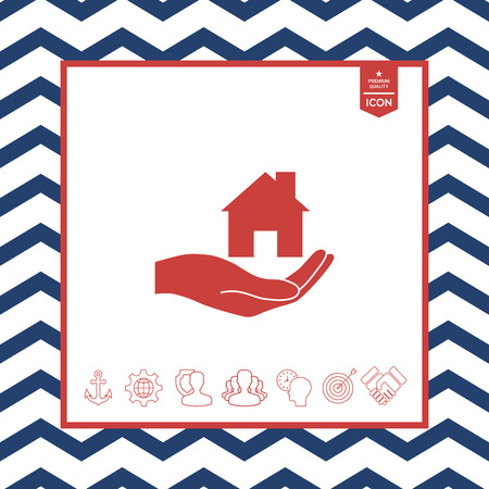 residence: Hand holding home vector illustration Illustration