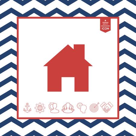 residence: Home icon vector illustration Illustration
