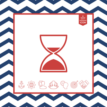 countdown: Hourglass time icon
