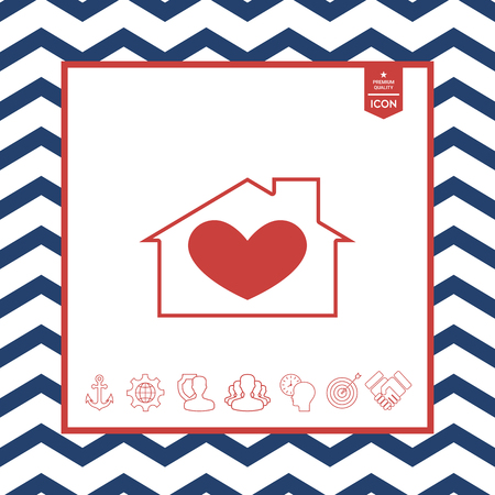residence: House with heart symbol
