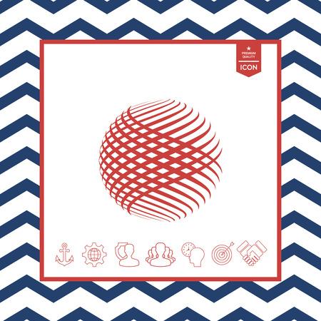 swirl: Logo design. Earth symbol Illustration