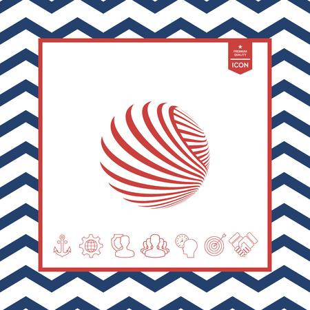 swirl: Logo design. Earth vector illustration