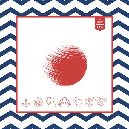 swirl: Logo Earth symbol vector illustration