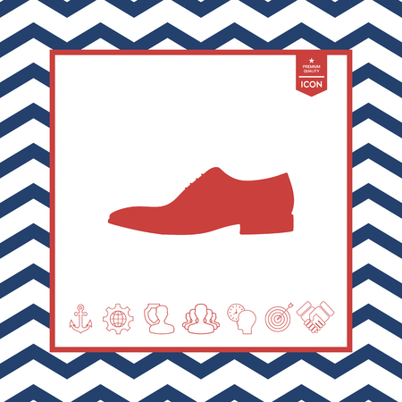 paintings: Mens shoe icon. Menu item in the web design Illustration