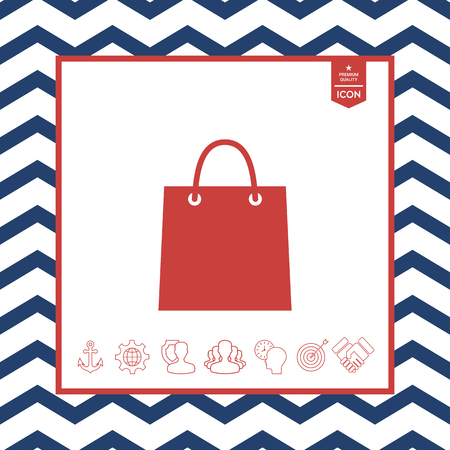 objects: Shopping bag vector illustration