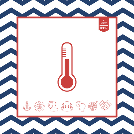 objects: Thermometer icon.
