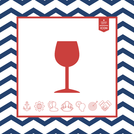 objects: Wineglass icon Illustration