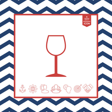 objects: Wineglass symbol icon
