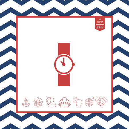 objects: Wristwatch icon Illustration