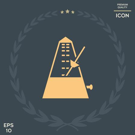 Metronome icon vector illustration