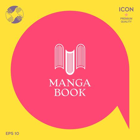 Elegant logo with book symbol - like the letter M