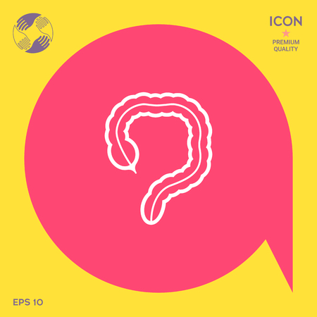 transverse colon: Human organ - the large intestine icon