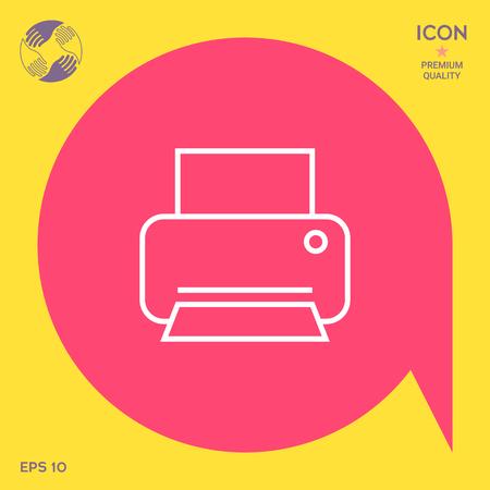 Print line icon