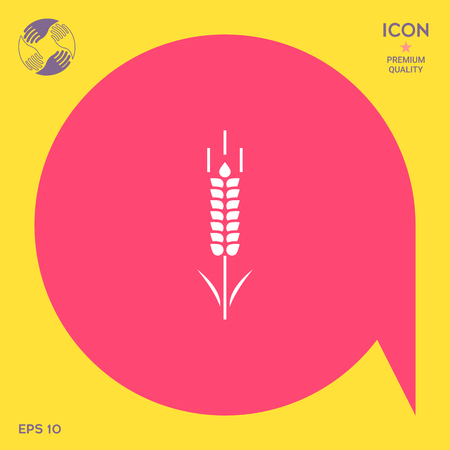 spica: Wheat or rye spikelet symbol icon Illustration