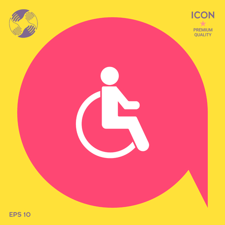Wheelchair handicap icon Illustration