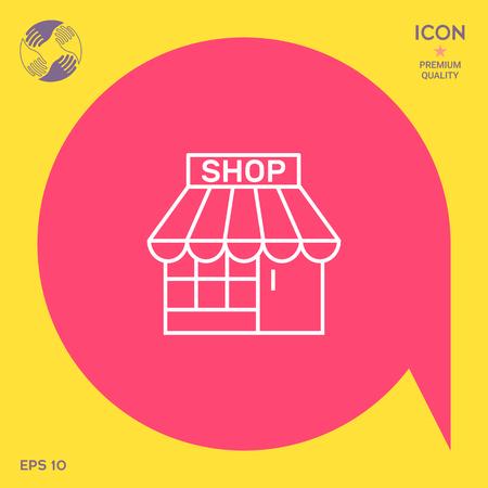 Shop icon Illustration
